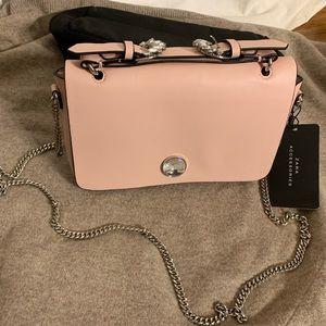 Zara pink and rhinestone crossbody with chain.